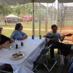 Noah Desimone entertaining in the VIP tent