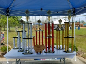 Trophies donated by West Florida Trophies and Plaques